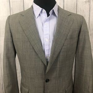 Brooks Brothers 41R Gray Wool 2-Button Sports Coat